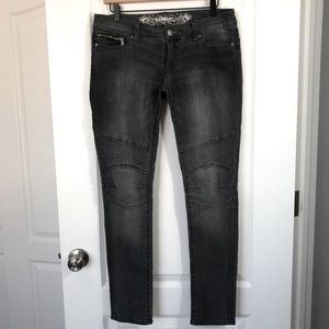 Express Low Rise Skinny Moto Denim Jeans